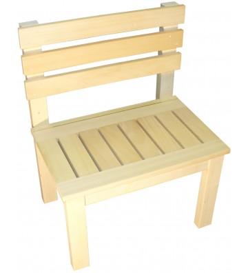 Drewniana ławka do sauny ze...